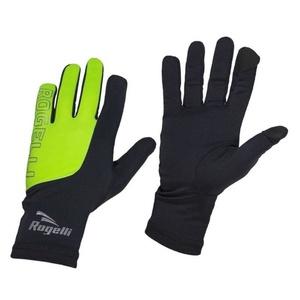 Pánské běžecké zimní rukavice Rogelli Touch, 890.002. černo-reflexní žluté, Rogelli