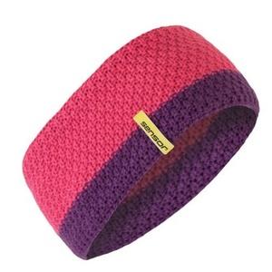 Pletená čelenka Sensor růžová, Sensor