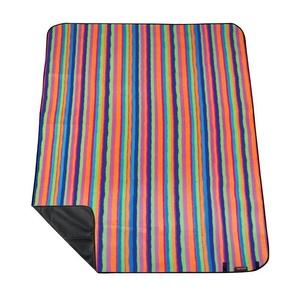 Pikniková deka s popruhem Spokey PICNIC TARTANA, pruhovaná, Spokey