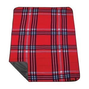 Pikniková deka s popruhem Spokey PICNIC HIGHLAND, červená, Spokey