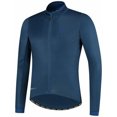 Hřejivý cyklistický dres Rogelli ESSENTIAL s dlouhým rukávem, modrý 001.107, Rogelli