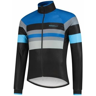 Ultralehká cyklistická bunda Rogelli PEAK, černo-modro-šedá 003.035, Rogelli