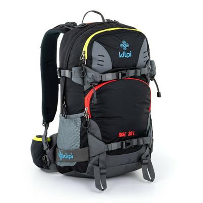 Freeride a skialpový batoh Kilpi RISE-U černá, Kilpi