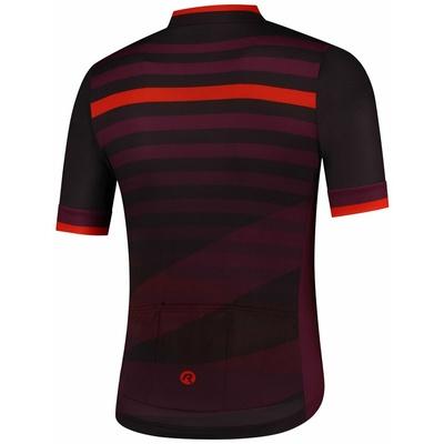 Cyklodres Rogelli STRIPE s krátkým rukávem, černo-vínovo-červený 001.103, Rogelli