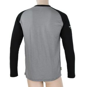 Pánské triko Sensor Merino DF Adventure dl.rukáv šedá/černá 19100007, Sensor