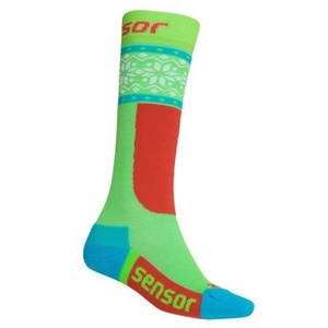 Ponožky Sensor THERMOSNOW NORWAY zelená bílá 18200065, Sensor