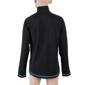 Dětské triko Sensor Thermo dl.rukáv zip černá/ufo, Sensor
