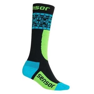 Dětské ponožky Sensor THERMOSNOW NORWAY černá/modrá 18200064, Sensor