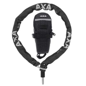 Zámek plugin řetěz RLC 100/5,5 černá + podsedlová brašna 59551195SC , AXA