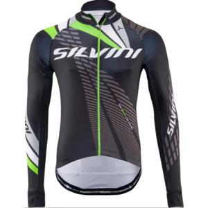 Pánský zateplený dres Silvini Team MD1401 black-green, Silvini