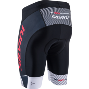 Pánské cyklistické šortky Silvini Team MP1407 black-red, Silvini