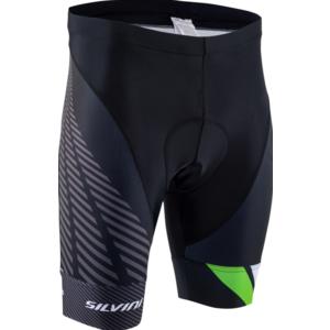 Pánské cyklistické šortky Silvini Team MP1407 black-green, Silvini