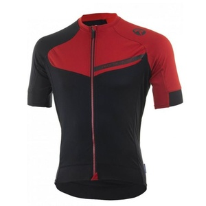 Cyklistický dres RogelliCONTENTO z hladkého materiálu, černo-červený 001.084., Rogelli
