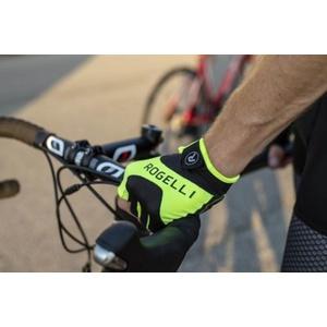 Cyklistické rukavice Rogelli ARIOS, reflexní žluté 006.001., Rogelli