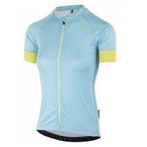 Dámský cyklistický dres Rogelli MODESTA s krátkým rukávem, světle tyrkysovo-žlutý 010.115, Rogelli