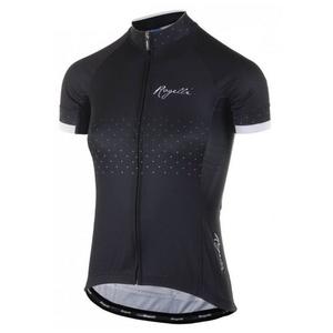 Dámský cyklistický dres Rogelli PRIDE s krátkým rukávem a střihem na tělo, černo-bílý 010.170., Rogelli