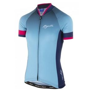 Dámský prémiový cyklodres Rogelli FLOW s krátkým rukávem, modro-růžový  010.173, Rogelli