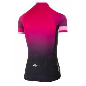 Dámský prémiový cyklodres Rogelli FLOW s krátkým rukávem, růžovo-černý  010.174., Rogelli