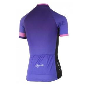 Dámský prémiový cyklodres Rogelli FLOW s krátkým rukávem, fialovo-růžový 010.175., Rogelli