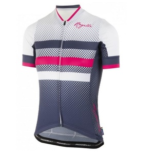 Nejprodyšnější dámský cyklodres Rogelli DOT- s krátkým rukávem, modro-růžový 010.177., Rogelli