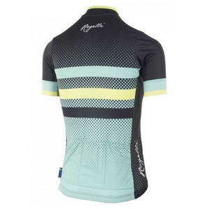 Nejprodyšnější dámský cyklodres Rogelli DOT- s krátkým rukávem, tyrkysovo-šedo-žlutý 010.178., Rogelli