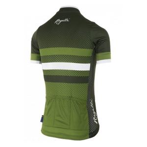 Nejprodyšnější dámský cyklodres Rogelli DOT- s krátkým rukávem, zelený 010.179., Rogelli
