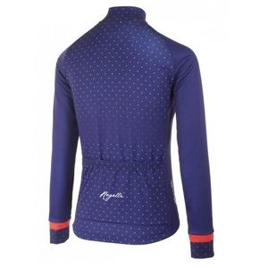 Hřejivý dámský cyklodres Rogelli PRIDE s dlouhým rukávem, modro-růžový 010.181., Rogelli