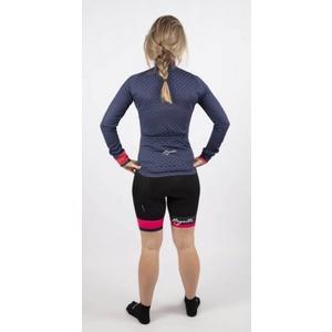 Hřejivý dámský cyklodres Rogelli PRIDE s dlouhým rukávem, modro-růžový 010.181.