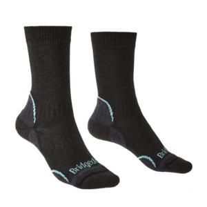 Ponožky Bridgedale Hike Lightweight Coolmax Performance Boot Women's graphite/mint/168, bridgedale