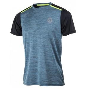 Pánské funkční tričko Rogelli GRAVITY, tyrkysový melír-reflexní žlutá 830.242, Rogelli
