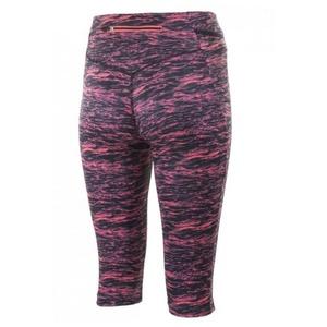 Dámské běžecké 3/4 kraťasy Rogelli JOY, černá-růžový melír 840.842, Rogelli