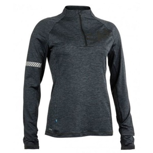 Dámská mikina Salming Phase Halfzip Women Dark Grey Melange, Salming