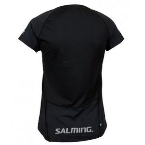Dámské triko Salming Laser Tee Women Black Melange, Salming
