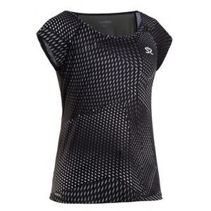 Dámské triko Salming Breeze Top Women Black AOP, Salming