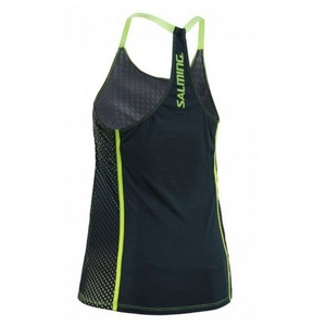 Dámské tílko Salming Breeze Tank Women Deep Teal AOP/Sharp Green, Salming