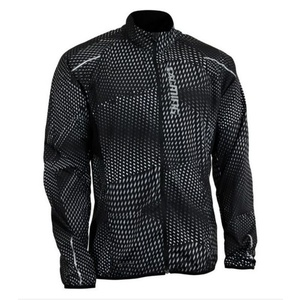 Bunda Salming Ultralite Jacket 3.0 Men Black All Over Print, Salming
