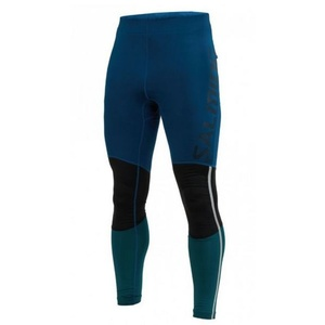 Pánské legíny Salming Grand Tights Men Posiedon Blue/Black/Deep Teal, Salming