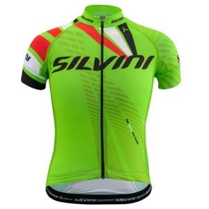 Dětský cyklistický dres Silvini Team CD1435 green-red, Silvini