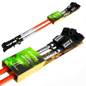 Spokey TIERRA Hole Nordic Walking 2-dílné, Easy click glove systém, černo-oranžové