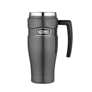 Vodotěsný termohrnek s madlem Thermos Style metalicky šedá 160035, Thermos