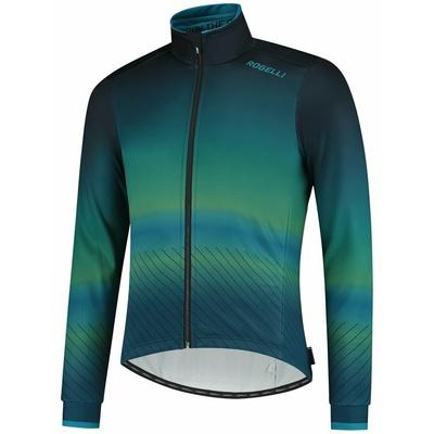 Ultralehká cyklistická bunda Rogelli SOUL, modro-zelená 003.418