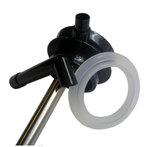 Skleněná termokonvice s pumpou Thermos metalicky šedá 194030, Thermos