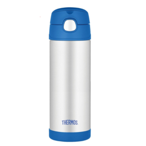 Dětská termoska s brčkem Thermos Funtainer modrá 470ml 120022, Thermos