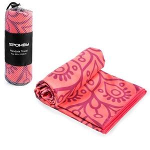 Spokey MANDALA Rychleschnoucí plážový ručník, lososový, 80x160cm , Spokey