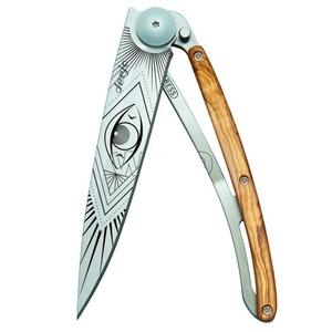 Kapesní nůž Deejo 1CB052 Tattoo 37g, olive wood, Vision, Deejo
