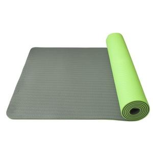 Podložka na jogu Yoga Mat dvouvrstvá, materiál TPE zelená/šedá, Yate