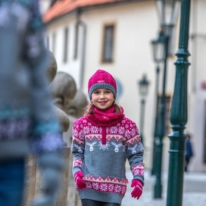 Dětský pletený Merino nákrčník SB12 114