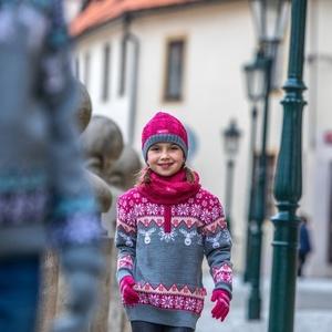 Dětský pletený Merino nákrčník SB12 114, Kama