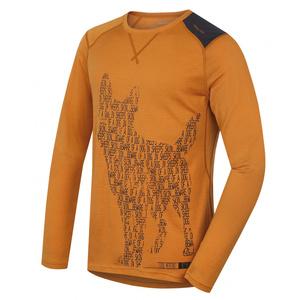 Pánské merino triko Husky Dog hnědooranžová, Husky