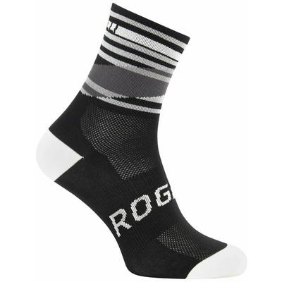 Designové funkční ponožky Rogelli STRIPE, černo-bílé 007.203, Rogelli